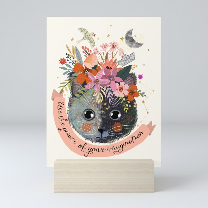 Use the power of your imagination Mini Art Print