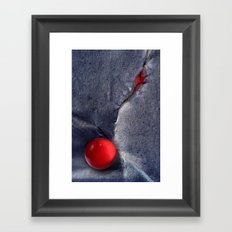 THE RED BALL Framed Art Print