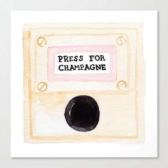 Press For Champagne Canvas Print