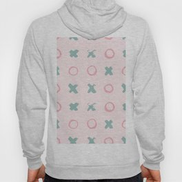 Contemporary X Paint Circles Pattern Hoody