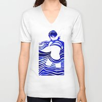 celestial V-neck T-shirts featuring Celestial II by Stevyn Llewellyn