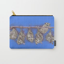 Possum Family - Blue Carry-All Pouch