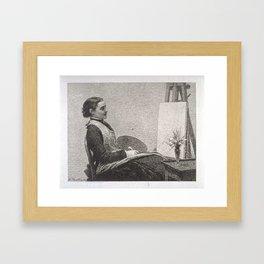 Ignace-Henri-Jean-Théodore Fantin-Latour › Dans l'atelier Framed Art Print