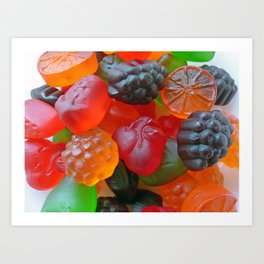 Gummy Fruit Art Print