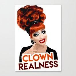 """""""Clown Realness"""" Bianca Del Rio, RuPaul's Drag Race Queen Canvas Print"""