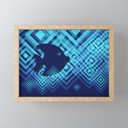 Blue Fish Angel Anglers Angles Framed Mini Art Print