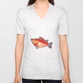 Pesce intrepido Unisex V-Neck