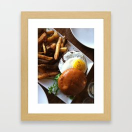 Egg burger Framed Art Print