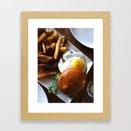 Egg burger Framed Art Print