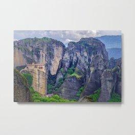 Monastery in Meteora, Greece - landscape Metal Print