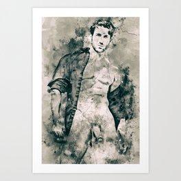 """""""Mythos: Open Shirt"""" Art Print"""