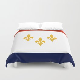 flag of new orleans,NOLA, Crescent City,Big Easy, Nawlins, jazz,Lousiana,french,cajun,treme Duvet Cover