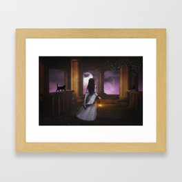 Halloween Haunting Framed Art Print