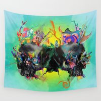 archan nair Wall Tapestries featuring Mixed Signals by Archan Nair