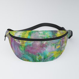 """Winter Grapes"" Surreal Abstract Acrylic by Noora Elkoussy Fanny Pack"