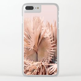 Coral Palms Clear iPhone Case