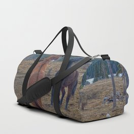 The Challenge - Ranch Horses Fighting Duffle Bag