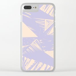 Modern lilac ivory violet geometrical shapes patterns Clear iPhone Case