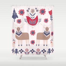 Scandinavian Winter Pattern Beige #society6 #buyart Shower Curtain
