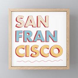 San Francisco Framed Mini Art Print