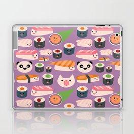 Kawaii sushi purple Laptop & iPad Skin