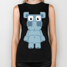 Super cute cartoon blue pig - bring home the bacon with everything for the pig enthusiasts! Biker Tank