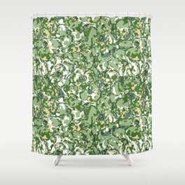 Flower Camuflage green Abstract Shower Curtain