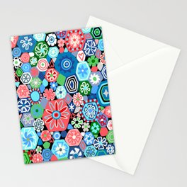 Millefiori Blue and Red Stationery Cards
