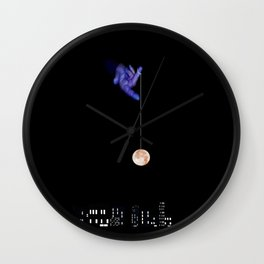 Moon Yo-yo Wall Clock