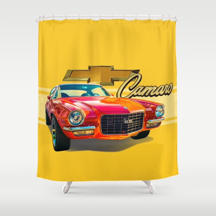 Chevy Camaro Shower Curtain