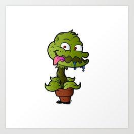 Carnivorous plant. Art Print