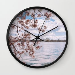 Washington DC Cherry Blossoms - Thomas Jefferson Memorial Wall Clock
