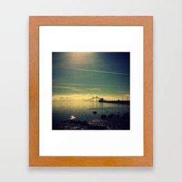 Richmond San Rafael Bridge and Fog Framed Art Print