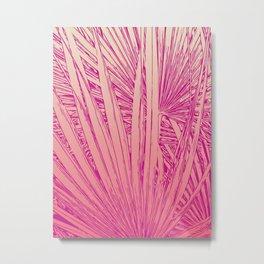 pink palm tree Metal Print