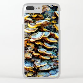 Tree Fungi Pattern Clear iPhone Case