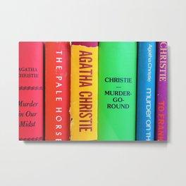 Rainbow Agatha Murder Books Metal Print
