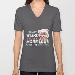I'm Not Weird - Anime Kawaii Manga Girl T-Shirt Unisex V-Neck