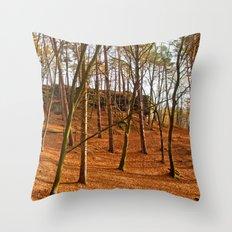 Tangerine forest Throw Pillow