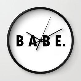 BABE. Wall Clock
