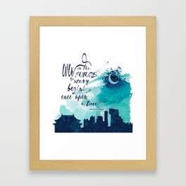 The Lunar Chronicles Quote Framed Art Print