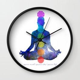Chakra - Positive Mind, Positive Vibes, Positive Life Wall Clock