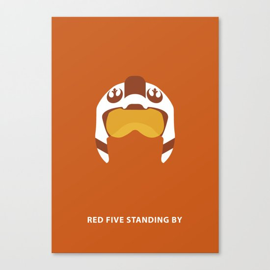 Star Wars Minimalism - Red Five Canvas Print