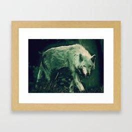 cool wolf art Framed Art Print