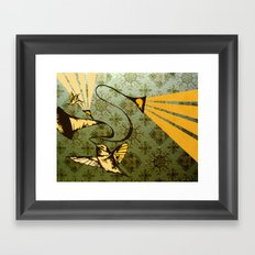 analog zine - song bird Framed Art Print