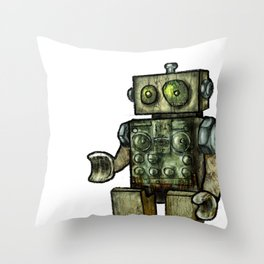 Spalted Circuits Throw Pillow