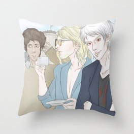 1th Day - Berlin (Hetalia Postcard Serie) Throw Pillow