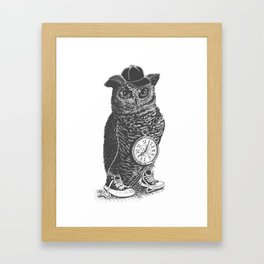 Owl Skool Framed Art Print
