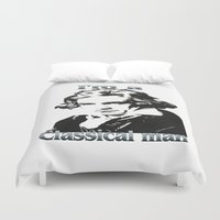beethoven Duvet Covers featuring Beethoven by Stitched up designs