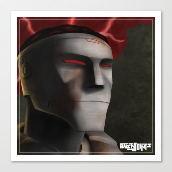 Rusty Joints Portrait - Airbrush Style - Feature Study Canvas Print