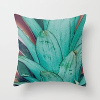 pinapple Throw Pillows featuring Pinapple by 83 Oranges™